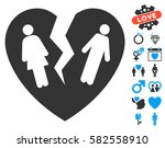 broken family heart icon with... | Shutterstock .eps vector #582558910