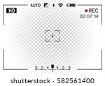 camera viewfinder rec on... | Shutterstock .eps vector #582561400