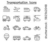 transport   logistic icon set... | Shutterstock .eps vector #582562048