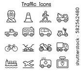 traffic   transportation icon...   Shutterstock .eps vector #582562480