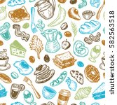 hand drawn pattern with... | Shutterstock .eps vector #582563518