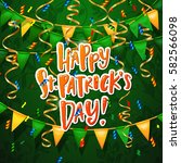 happy st. patrick's day poster... | Shutterstock .eps vector #582566098