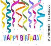 happy birthday card template... | Shutterstock .eps vector #582566320