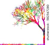 Colorful Abstract Tree. Vector