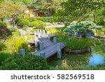 jardin japonais view with... | Shutterstock . vector #582569518