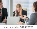 frustrated business people... | Shutterstock . vector #582569893