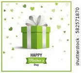 vector illustration of a happy... | Shutterstock .eps vector #582571870