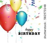 happy birthday card template...   Shutterstock .eps vector #582573148