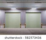 shutter door or roller door and ... | Shutterstock . vector #582573436
