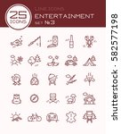 line icons entertainment set 3 | Shutterstock .eps vector #582577198