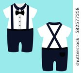 romper suit. children's tuxedo. ...   Shutterstock .eps vector #582577258