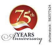 anniversary 75 th years... | Shutterstock .eps vector #582577624