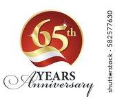 anniversary 65 th years... | Shutterstock .eps vector #582577630
