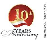 anniversary 10 th years... | Shutterstock .eps vector #582577654