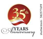 anniversary 35 th years...   Shutterstock .eps vector #582577699