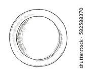 dish sketch vector illustration ... | Shutterstock .eps vector #582588370