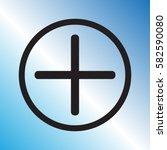 plus icon  positive symbol... | Shutterstock .eps vector #582590080