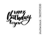 happy birthday lettering for... | Shutterstock .eps vector #582595330