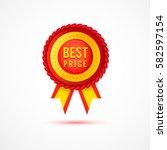 vector best price red label... | Shutterstock .eps vector #582597154