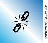 broken chain  icon  unlink... | Shutterstock .eps vector #582598339