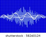 vector music wave | Shutterstock .eps vector #58260124