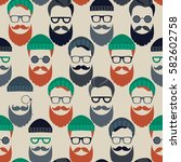 seamless vector pattern with... | Shutterstock .eps vector #582602758