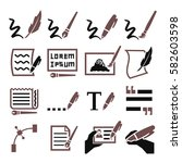 writing icon set | Shutterstock .eps vector #582603598
