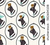 vintage seamless pattern with... | Shutterstock .eps vector #582604108