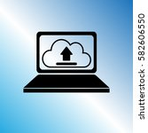 notebook icon  clouds upload... | Shutterstock .eps vector #582606550