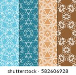 set of seamless vector patterns.... | Shutterstock .eps vector #582606928
