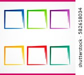 colorful vector frame banners | Shutterstock .eps vector #582618034