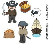 vector set of pirate | Shutterstock .eps vector #582625090