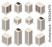 set of isometric modern beige... | Shutterstock .eps vector #582626470