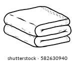 towel   cartoon vector and... | Shutterstock .eps vector #582630940
