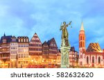 old town with the justitia... | Shutterstock . vector #582632620