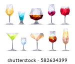 set of geometric icon wine ...   Shutterstock .eps vector #582634399