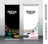 roll up brochure flyer banner... | Shutterstock .eps vector #582635230