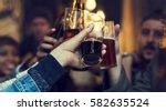 craft beer booze brew alcohol... | Shutterstock . vector #582635524