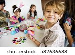 happiness group of cute and... | Shutterstock . vector #582636688