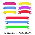 set of color ribbons vector | Shutterstock .eps vector #582637663