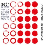 vector brush strokes circles of ... | Shutterstock .eps vector #582640330