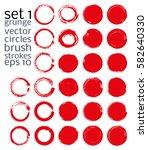 vector brush strokes circles of ... | Shutterstock .eps vector #582640330