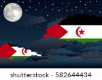 illustration of night clouds ... | Shutterstock .eps vector #582644434