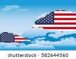 illustration of clouds  clouds... | Shutterstock .eps vector #582644560