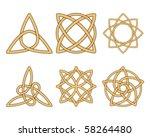 vintage ornaments. celtic knots   Shutterstock .eps vector #58264480