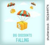 big discount falling concept.... | Shutterstock .eps vector #582644974