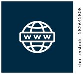 www vector icon  website symbol.... | Shutterstock .eps vector #582645808