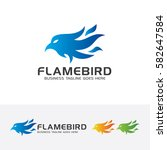 flame bird  eagle  flame  fire  ... | Shutterstock .eps vector #582647584