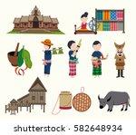 the northeastern thailand... | Shutterstock .eps vector #582648934