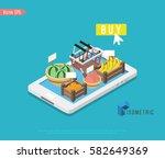 online shopping isometric...   Shutterstock .eps vector #582649369